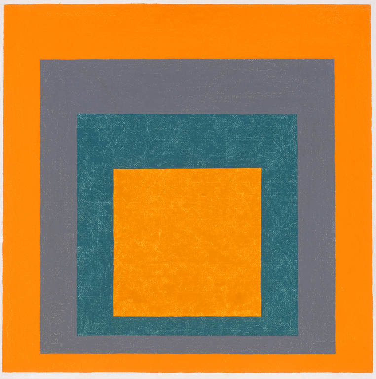 """Josef Albers (American, b. Germany, 1888-1976), Study-Homage to the Square: """"Lighted from Within"""", 1957. Oil on Masonite. Milwaukee Art Museum, gift of Anni Albers and the Josef Albers Foundation, Inc. M1981.76. Photo credit: John R. Glembin. © The Josef and Anni Albers Foundation / Artists Rights Society (ARS), New York"""