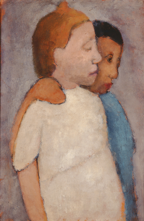 Paula Modersohn-Becker (German, 1876-1907), Two Girls in White and Blue Dresses, 1906. Oil on board. Milwaukee Art Museum, Maurice and Esther Leah Ritz Collection M2004.128. Photo credit: Efraim Lev-er