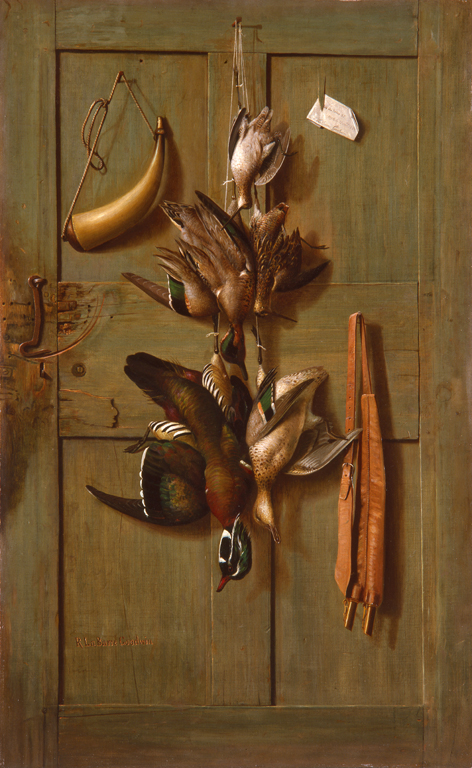 Richard La Barre Goodwin (American, 1840–1910), Hunting Cabin Door, ca. 1889. Oil on canvas mounted on Masonite. Milwaukee Art Museum, Gift of Friends of Art and Purchase, M1980.2. Photographer credit: P. Richard Eells
