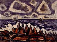 Marsden Hartley (American, 1877–1943). Northern Seascape, Off the Banks, 1936–37. Oil on cardboard. Milwaukee Art Museum, Max E. Friedman--Elinore Weinhold Friedmann Bequest M1954.4. Photo credit: Efraim Lev-er