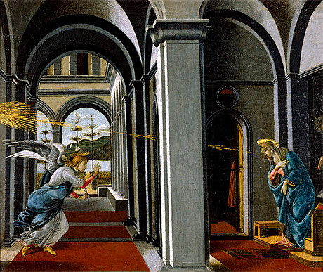 Image of Botticelli's The Annunciation