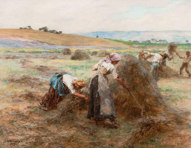 Léon-Augustin Lhermitte (French, 1844–1925), Haymaking Time (La Fenaison), 1897. Oil on canvas. Milwaukee Art Museum, Purchase, with funds from Avis Martin Heller in honor of the Fine Arts Society M2010.68. Photo credit: John R. Glembin