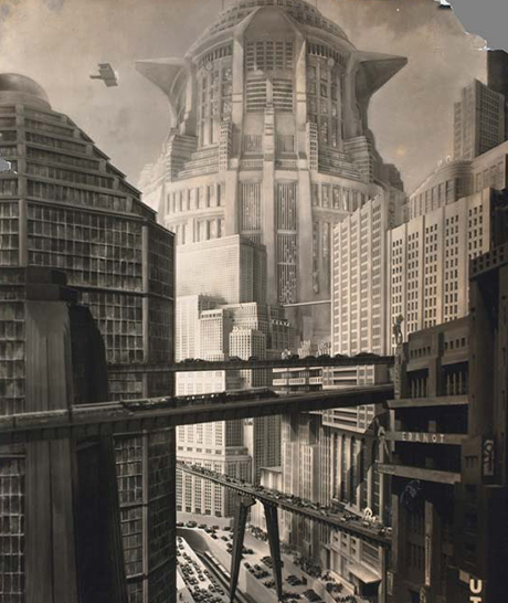 Horst von Harbou (Germany, 1879–1953). Set photograph from Metropolis, 1927. Director: Fritz Lang (Austria, 1890–1976). Gelatin silver print. Collection of La Cinémathèque française