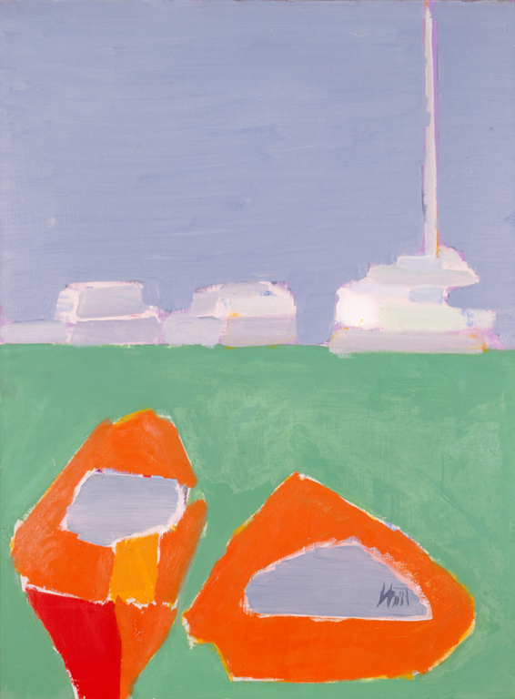 Nicolas de Stael (French, b. Russia, 1914-1955), Red Boats, 1954. Oil on canvas. Milwaukee Art Museum, Gift of Mrs. Harry Lynde Bradley M1959.377. Photo credit: Dedra Walls. ©2010 Artists Rights Society (ARS), New York / ADAGP, Paris